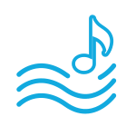 música de las olas